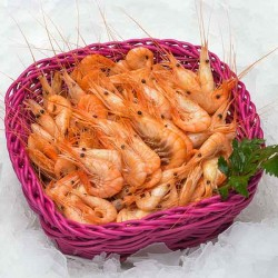 Crevettes bouquet cuites -...