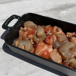 Crevettes et Saumon marinés...