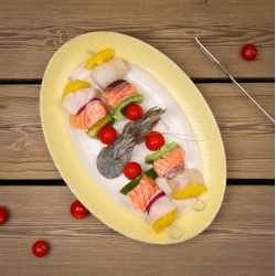 Brochette de Saumon, Lingue...